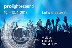 visit us prolight+sound 2018 Frankfurt